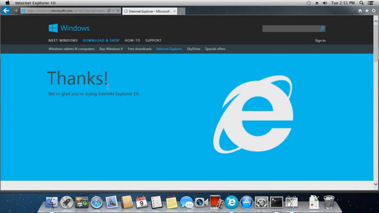 download microsoft internet explorer for mac os x