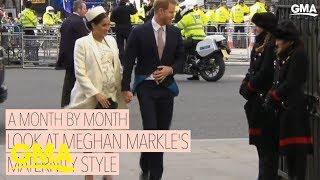 Meghan Markle's royal maternity style l GMA Digital
