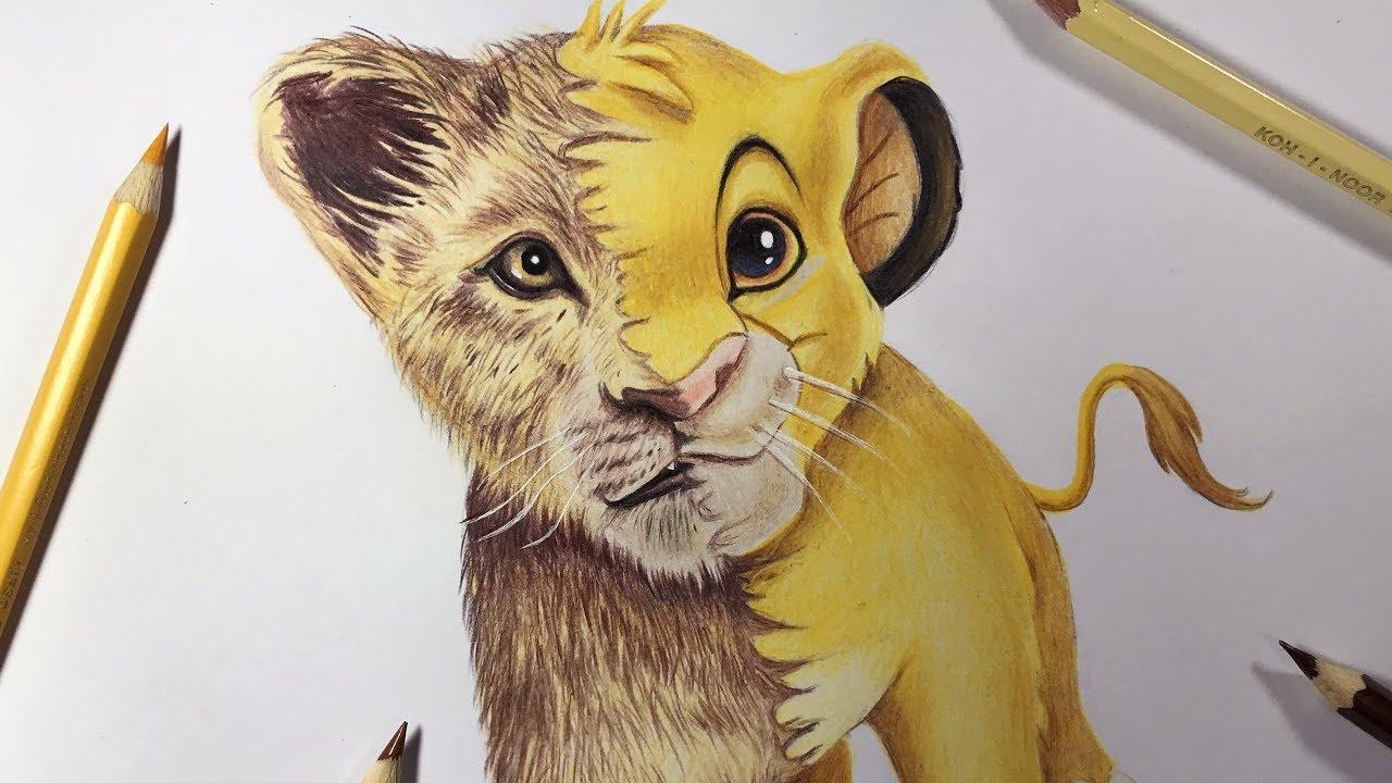 Desenhando O Simba Rei Leao Drawing Simba Lion King Youtube