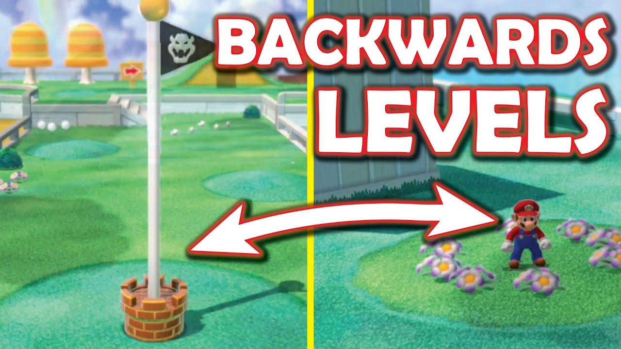 Download I made the levels BACKWARDS in Super Mario 3D World! [Super Mario 3D World + Bowser's Fury modding]