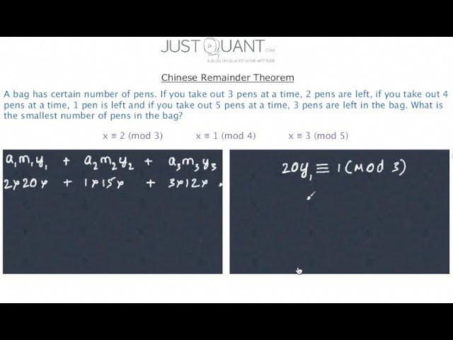 Using Chinese Remainder Theorem Justquant