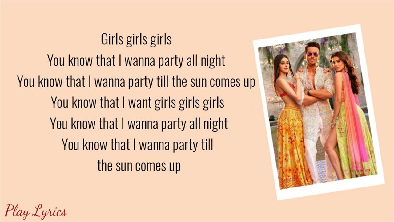 Download Mumbai Dilli Di Kudiyaan song (lyrics) : | Tiger Shroff | Ananya Pandey | Tara Sutaria | SOTY2 |