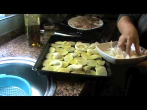muslos de pollo al horno - YouTube