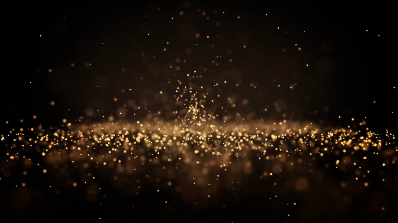Golden Glittery Particles Dust Abstract Particle Animation Background Stock Footage Youtube Animation Background Free Video Background Background