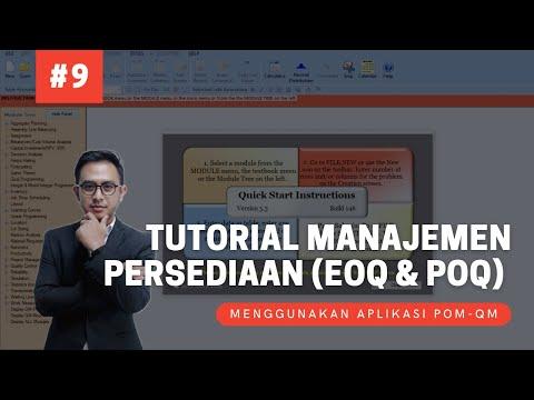 Tutorial Riset Operasi | Manajamen Persediaan (EOQ Dan POQ) Dengan POM QM | Dengan Deskripsi Lengkap