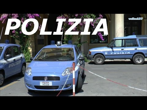 POLIZIA Italia (Liguria) Police cars in  Italy - Polizeifahrzeuge in Italien