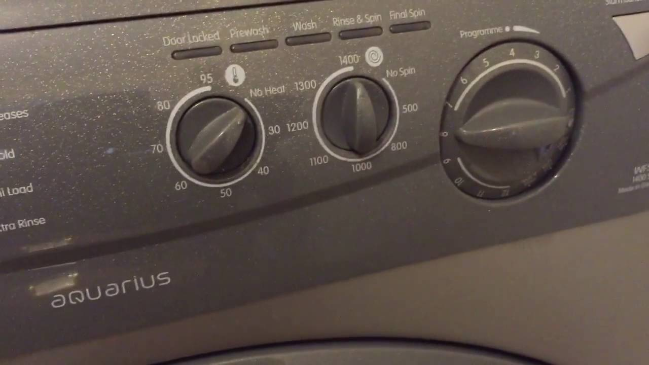 how to use the hotpoint wf541 1400 spin washing machine user manual rh youtube com Hotpoint Aquarius Washing Machine Manual Hotpoint Aquarius TVM570P