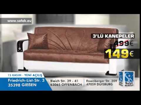 safak mobilya giessen spot youtube. Black Bedroom Furniture Sets. Home Design Ideas