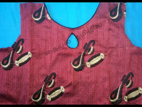 boat-neck-with-leaf/drop-design-cutting-&-stitching-in-tamil-|-chudithar/kurthi-easy-neck-designs
