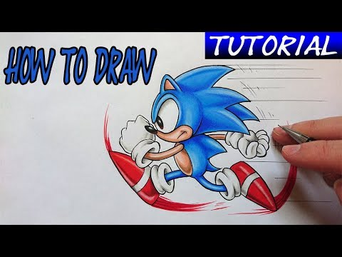 How To Draw | SONIC THE HEDGEHOG  - EASY Tutorial