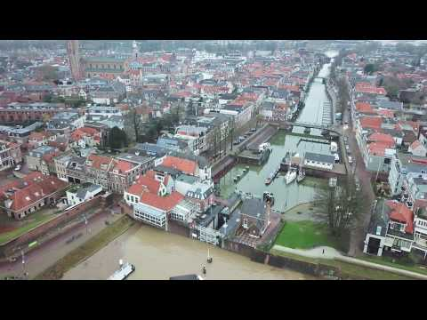 Hoog water in Gorinchem