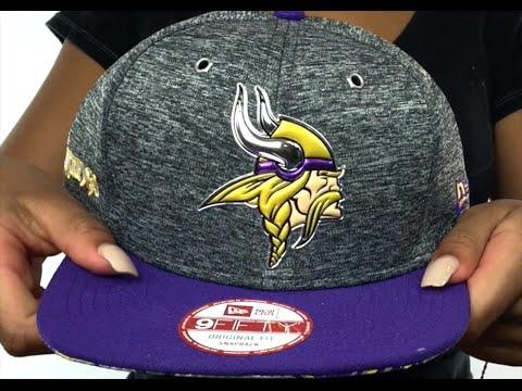 Vikings  2016 NFL DRAFT SNAPBACK  Hat by New Era - YouTube b2a6b6d8c7f