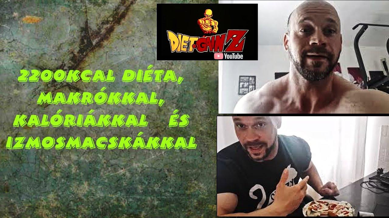 2200 kcal étrend fogyáshoz