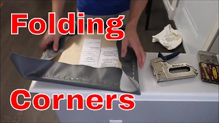 How to Recover a Chair Seat -- Easy to Fold Corners