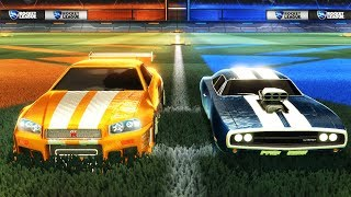DE NISSAN SKYLINE \u0026 DODGE CHARGER TESTEN! | Rocket League