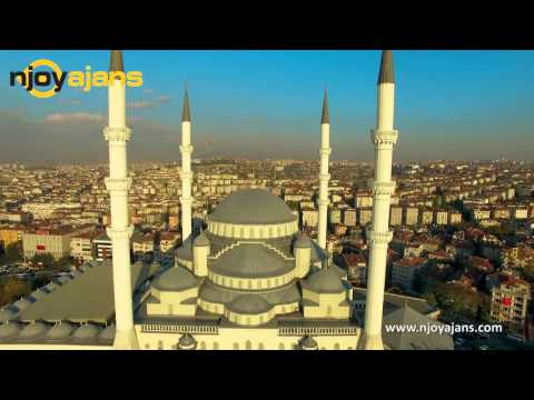Kocatepe Mosque in Ankara, TURKEY (Aerial 4K Videography)