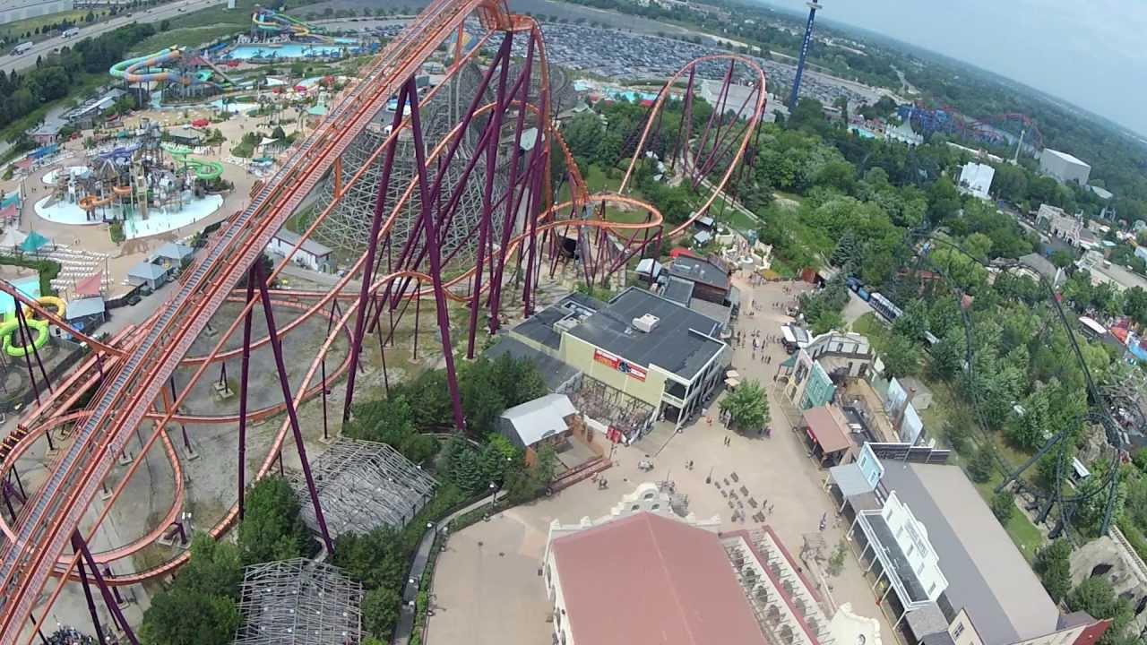 Giant Drop Six Flags Great America Hd Pov Youtube