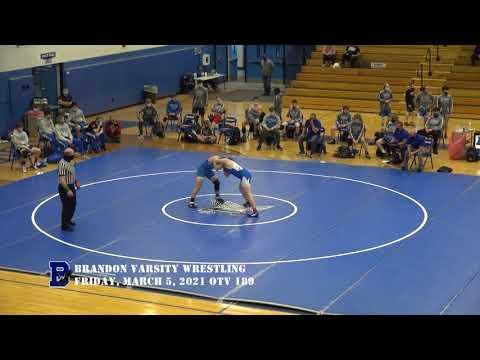 3/5/2021 Brandon Varsity Wrestling vs Flint Metro League
