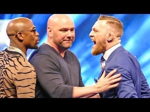 Floyd Mayweather vs Conor McGregor HEATED LONDON FACE OFF | World Tour Final