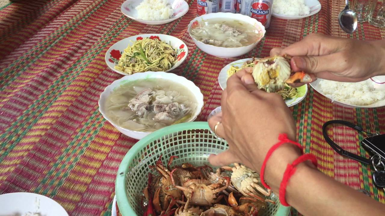 Download Cambodian Family Foods, Lunch at my sister at province, Asian Food