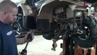 How to install rear Yamaha axle