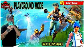 PLAYGROUND MODE 1v1 Battle in Fortnite Battle Royale!