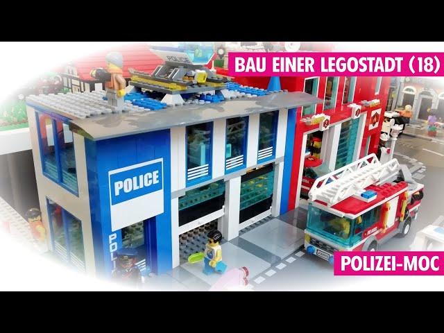 Bau einer Legostadt (Teil 18) Das Polizei-MOC+Elektroladestation