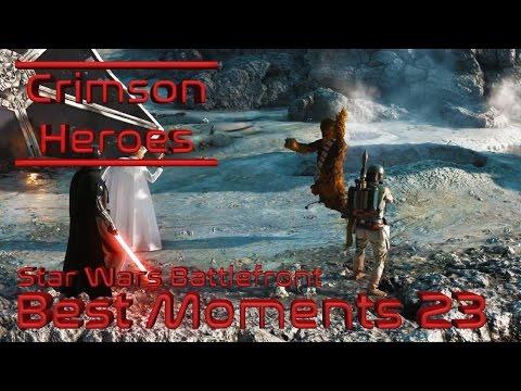 Star Wars Battlefront - Best Moments 23 - Triple Hero Takedowns
