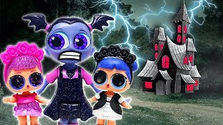 Vampirina & LOL Surprise Dolls Pool Party and Hide & Seek at the Scare B&B w Beats, Midnight & Nosy!