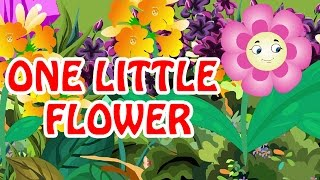 One Little Flower | Nursery English Rhyme