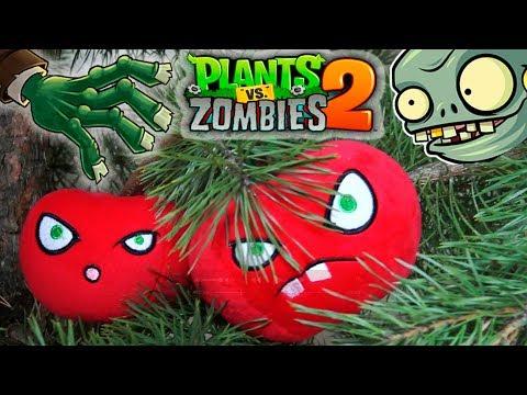 Plants vs Zombies plush Christmas tree Brainz Family toys PlayclayTV new year Garden Warfare 2 - Лучшие приколы. Самое прикольное смешное видео!