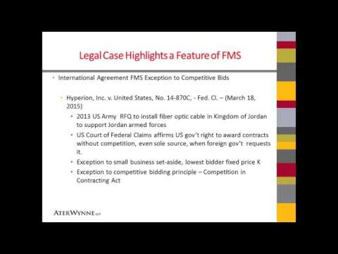 6 Foreign Military Sales FMS Regulatory Compliance m4v 5