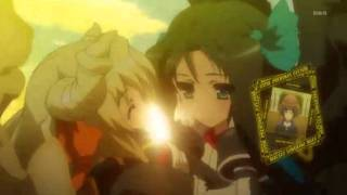 Kyoukai Senjou no Horizon - Gacchan & Margot kiss