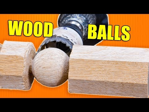 Making Wooden Balls / Spheres On the Lathe With a Drill