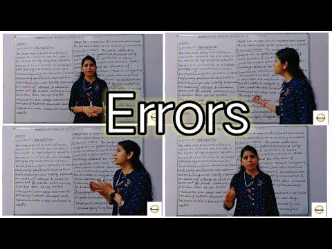 Pharmaceutical Analysis II Errors II Sources Of Errors II Lecture No- 5 II