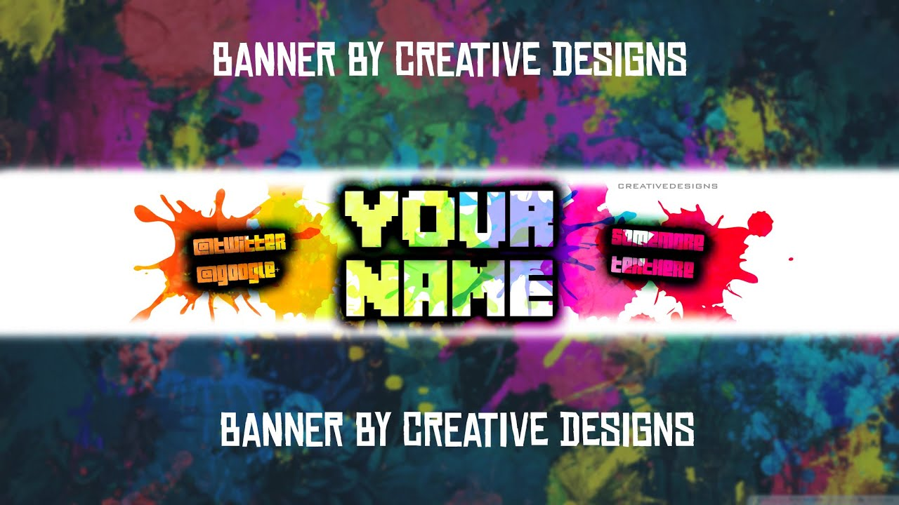 Free YouTube Banner Template! \