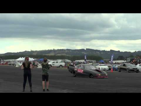 General Electric J85 Zahorodny Racing Jet car Start up and