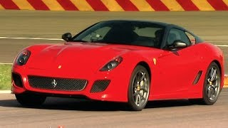Testing The Incredible Ferrari 599 GTO Fifth Gear смотреть
