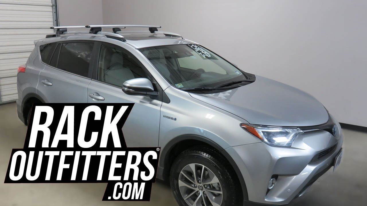 Toyota Rav4 with Yakima TimberLine JetStream Roof Rack Crossbars - YouTube