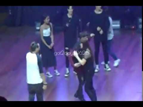 [FanCam] 161223 Got7 in Manila 'Name that Action' Game Jackson Focus