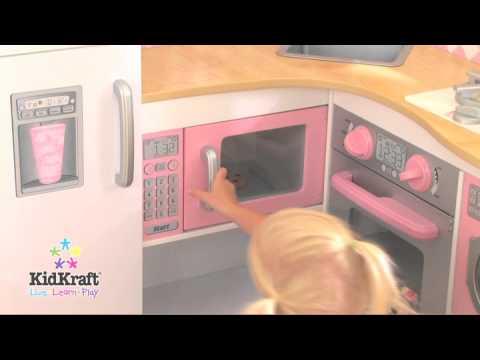 kidkraft grand gourmet corner kitchen 53185 - youtube