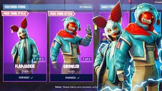 "New ""FLAPJACKIE & GROWLER"" BUNNY SKINS! (Fortnite LIVE Gameplay)"