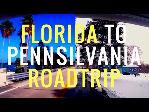 CRAZIEST ROAD TRIP - FLORIDA TROPICS TO SNOWY PENNSYLVANIA