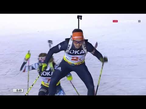 Биатлон  Рождественская гонка 2019  Гонка преследования  28 12 2019 Смотреть онлайн