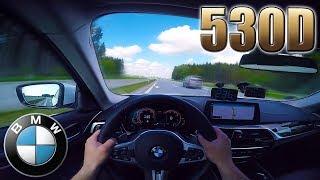 2017 BMW 530D G30 (265hp) on German Autobahn with NO SPEED LIMIT✔