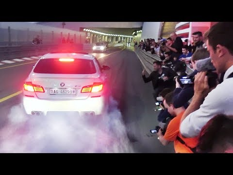LAUNCHES and BURNOUTS into the Monaco Tunnel