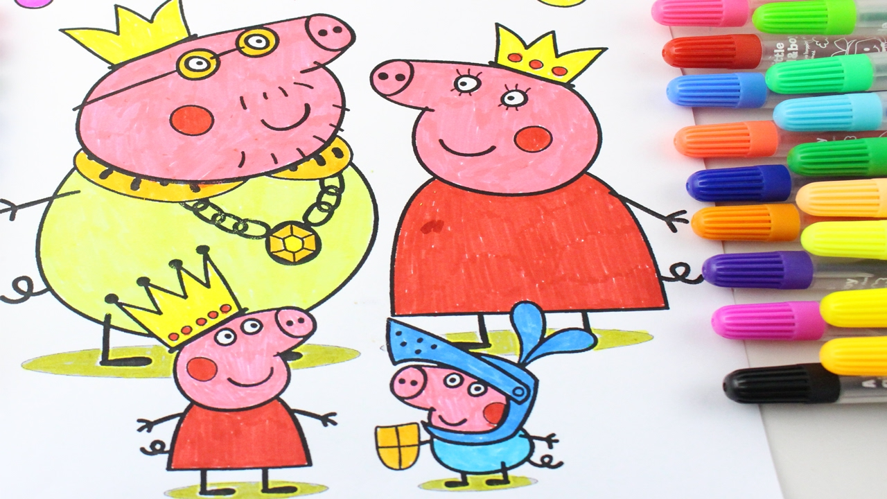 Peppa Pig Coloring Pages - Peppa Pig coloring book - Peppa Family ...