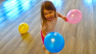 LEARN COLORS ❤️ Balloons Dance Party 💕 Learning 🌹 Fun Playtime