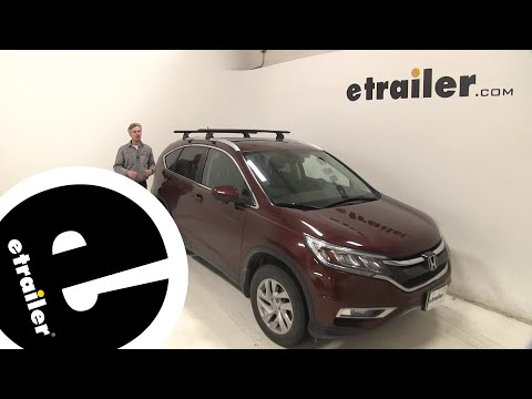 etrailer | Thule WingBar Evo Crossbars Installation - 2016 Honda CR-V