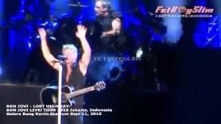BON JOVI - LOST HIGHWAY live in Jakarta, Indonesia 2015